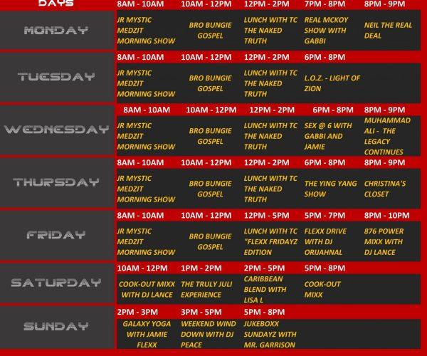 Flexx Schedule_
